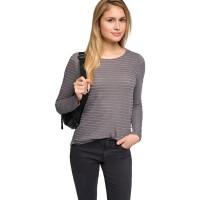 Branded Esprit Cotton/Linen Top With Lurex - Gunmetal