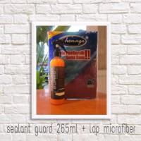 paket sealant wax coating poles mobil 250ml/ handuk micofiber 320gsm