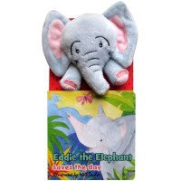 Eddie the Elephant Saves the Day Board Book with Finger Puppet Doll
