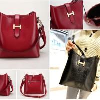 tas lengan shoulder handy bag merah marun nyala bagus murah wanita red