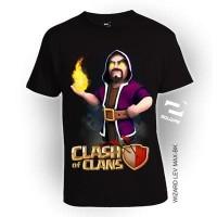Jual Baju Kaos 3D COC Wizard Lev Max ukuran ANAK usia 2th-8th by Square Murah