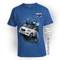 Jual Kaos 3D Datsun Go+ ukuran DEWASA LENGAN PANJANG by Square, Combed 30s Murah