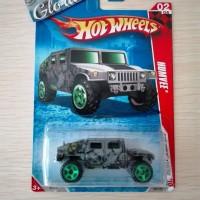Hot Wheels Langka Humvee Hummer Race World Battle Grey Hotwheels Rare