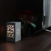 Lampu Meja Hias Kamar / Ruang Tamu Minimalis LED - Bright Side - WW