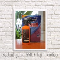 Paket Sealant Wax coating obat poles mobil 550ml / lap micro fiber