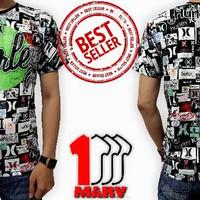 Jual New Kaos 3D Full Print DEPAN BELAKANG Baju Distro Cowok Hurley Baru Mu Murah