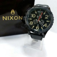 jam tangan pria nixon simplify leather cronograph super premium