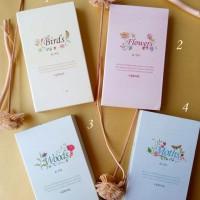 Jual Buku Tulis / Memo Notebook / Agenda Fancy Lipat 3 HARD COVER - NATURE Murah