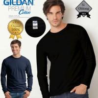 Jual Kaos Gildan Premium Long Sleeve 76400 Lengan Panjang Polos MURAH Murah