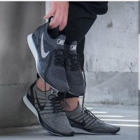 Nike Air Zoom Mariah Flyknit Racer Black Grey Premium Original