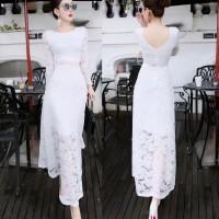 baju long dress model pesta black white red yellow new fashion impor