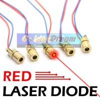 Laser Diode 5V Tunable Copper Head 6mm Outer Diameter LD Dioda Laser Warna Merah Red Dot Kepala Tembaga