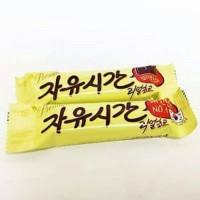 Haitai Korea Free Time Real Chocolate Peanut Energy Bar Cokelat Kacang