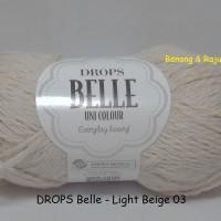 Jual DROPS Belle light beige - benang rajut impor katun cotton import Murah