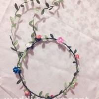 mahkota bunga Flower Crown Bohemia Head Flower