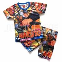 Setelan Anak Naruto Baju celana Anak gambar kartun printing