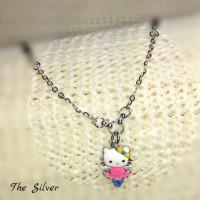 Kalung Anak Perak/Silver 925 Lapis Emas Putih Harga Termurah/Murah