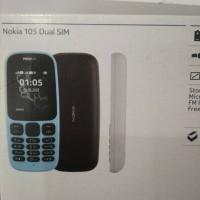HP Nokia 105 New - DUAL SIM - BLUE- HITAM- PUTIH
