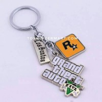 GTA V Grand Theft Auto Los Santos Key Chain Gantungan kunci keychain