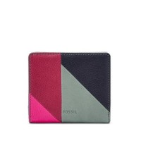 Promo fossil emma mini rfid patchwork wallet
