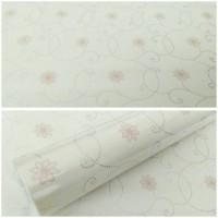 Walpaper Sticker Dinding Putih motif Bunga
