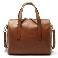 Authentic FOSSIL Sydney Satchel Brown
