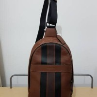 Tas Selempang Cowok Coach Original / Sling Bag Pack Polgan Dark Saddle