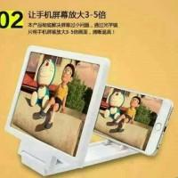 Jual Layar Zoom Pembesar HP Smartphone 3D Kaca Pembesar Enlarged Murah Murah