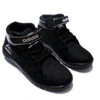 sepatu sekolah anak adidas hitam logo putih,merah,biru size 33-37
