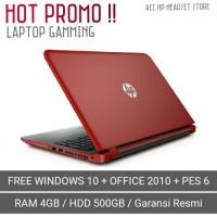 Laptop Gaming HP AMD A9-9420 Dual Core 4GB RAM/ 500 HDD/ Garansi Resmi