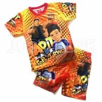 Setelan Anak Adit& Sopo jarwo baju celana Anak gambar kartun printing