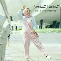 jumpsuit pink celana panjang wanita hijab dress muslim jamsuit jumsuit