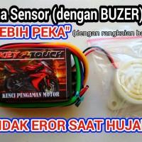 alarm motor sensor sentuh +sirine [Not Trust, Alsento, Genta, IC Lock]