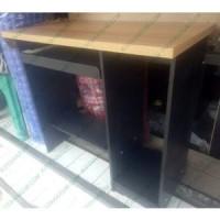 harga Meja Komputer Laptop Kantor Tinggi Coklat Kayu Hitam Murah Bandung Tokopedia.com