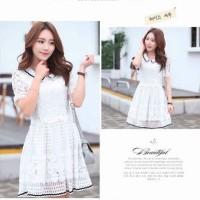 Jual Dress Wanita Import Baju Pesta Brokat Chiffon 685 Murah