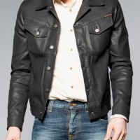 Nudie Jeans Conny Back 2 Black Black coated denim Jacket