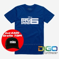kaos big hero 6 / kaos bimax / kaos film anime distro BONUS TOPI