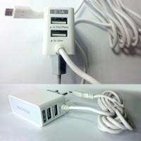 Jual Hotlist terlaris   Triple Charger LED Dual USB 3 in 1   free kabel Murah