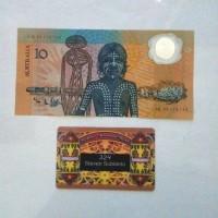 Uang Kuno Australia 10 Dollar Polymer th 1988 Aborigin