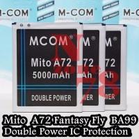 Promo BATERAI MITO A72 FANTASY FLY BA 00099 DOUBLE POWER PROTECTION G
