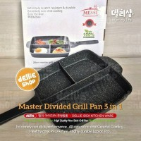 Messi 3 in 1 - Premium Divided Multi Grill Pan Wajan Panci Panggangan