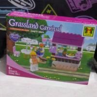 Jual Grassland Carnival xipoo block girl series LUCY'S STORE yoyo 98pcs Murah