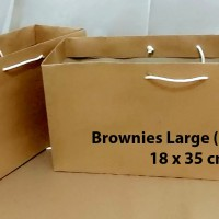 Paperbag Coklat Polos Size Brownies Large (18x35 cm)