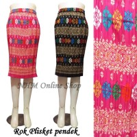 Rok Plisket Pendek-Rok Bawahan Kebaya-Rok Batik Limited