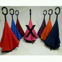 Jual Promo!! Payung Terbalik Reverse Umbrella Gagang C Kazbrella Murah