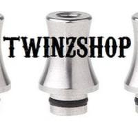 Drip Tip 510 SS silver (stingray ver) untuk Vaporizer T Berkualitas
