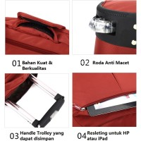 Jual CUCI GUDANG TAS RODA KOPER TROLLEY TRAVEL BAG HANDLE LUGGAGE - TRAVELL Murah