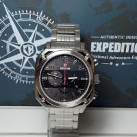 Jual Jam Tangan Pria Expedition E6738MC Chronograph Silver Stainless Black Murah