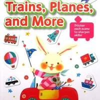 Kumon Step-by-Step Stickers TRAINS, PLANES, AND MORE - Buku Edukasi