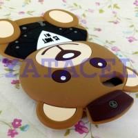 Case 4D Teddy Bear iPhone 5 5G 5S /Karakter/Moschino/Softcase/Soft/3d